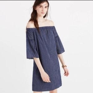 Madewell Off the Shoulder Bell Sleeve Dress …